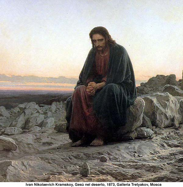 Ivan Kramskoy. Christ in the desert. 1872.